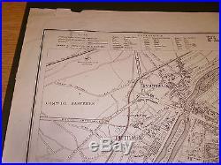 100% Originallarge Paris City Plan France Map By W Davies C1864 Vgc