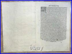 1572 Orleans (france) Braun & Hogenberg 16e Century Large & Rare Antique View