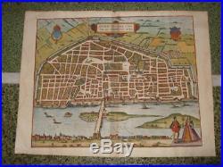 1581, Xl-braun+hogenberg, Map, Orleansaurelia, Loire, France, Frankreich, Francia