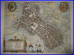 1581, Xl-lilleinsula/rysselsmap/plan, Franceflandersbraun+hogenberg