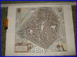 1581, Xl-valenciennesvalencenamap/plan, Franceescautbraun+hogenberg
