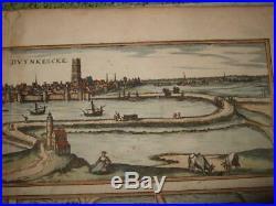 1581, Xl-views, Dunkirk-gravelines-bourbourg, Francecalais/s. Omerbraun+hogenberg