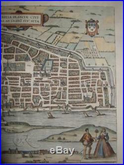 1581xl-view, Orleansaureliafranceparis, Loire/loiret, Centre-valbraun+hogenberg