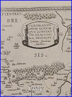1590 Ortelius Map of Calais and Vermandois, France and Vicinity A-014