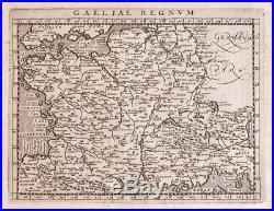 1597 CARTE DE FRANCE MAGINI Galliae regnum antique map ancienne gravure