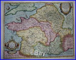 1603 Ortelius Map GAUL FRANCE OF JULIUS CAESAR'S TIME Scholarly & Decorative