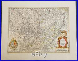 1619 Jan Jansson Antique Map of the Champagne province, NE France Troyes Reims