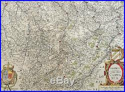 1619 Jansson Large Old, Antique Map of the Champagne Region of France Chalons