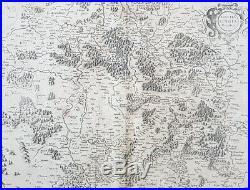 1628 Gerard Mercator Antique Map Lotharingia Region Netherlands Germany France