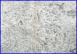 1628 Gerard Mercator Antique Map the Franche Comte de Bourgogne Region of France