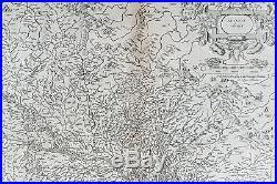1628 Gerard Mercator & Henricus Hondius Antique Map the Alsace Region of France
