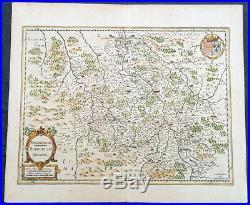 1629 Jan Jansson Antique Map of The Bourbon or Bourbonnais Region Central France