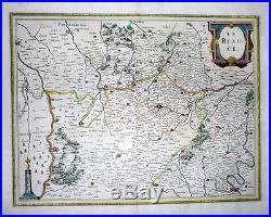 1633 Jansson Map BEAUCE (Eure-et-Loir) Chartres Orléans Paris France DECORATIVE