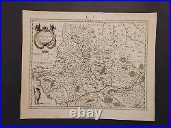 1635 Willem Blaeu map of northern France, entitled Comitatvs Bellovacvm, A-008