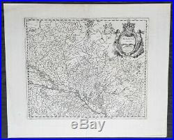 1638 Gerard Mercator & Henricus Hondius Antique Map of Alsace Region, France