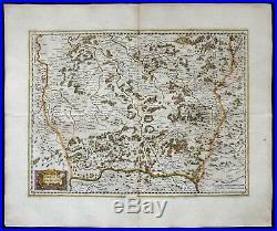 1640 Lorraine, France Lorraine Vers Le Midy, by Jodocus Hondius / Janssonius