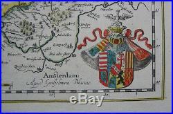 1640 Original William Blaeu Large Map of Lorraine of France Lotharingia Ducatus
