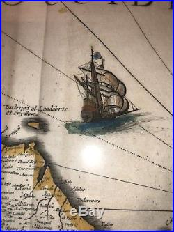 1640s Map By Chez Michel Lochem (Printer To The King Of France) Authentic