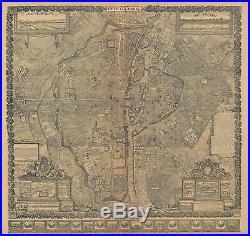 1652 Gomboust Map of Paris, France (c. 1900 Taride reissue)