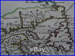 1662 SANSON Atlas map CANADA Le Canada, ou Nouvelle France