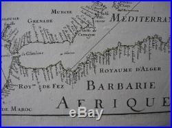 1677 DU VAL Sea Chart SCANDINAVIA BRITISH ISLES FRANCE SPAIN PORTUGAL BARBARY