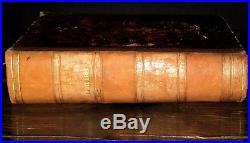 1700 HOLY BIBLE Sainte FRENCH Latin BIBLIA SACRA Map VULGATE Antique ENGRAVINGS