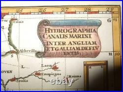 1702, Rare, Scherer, Nautical Map, Channel England France Normandy Brittany/bretagne