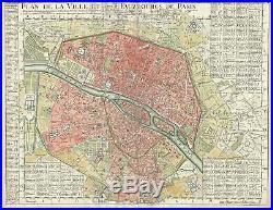 1716 Delisle Map of Paris, France