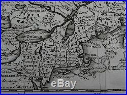 1729 Atlas VAN DER AA map CANADA ou NOUVELLE FRANCE Great Lakes America