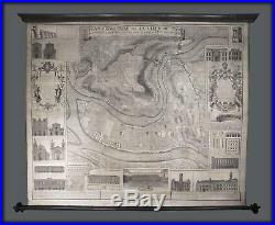 1740 Gregoire Wall Map of Lyon, France