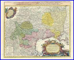 1742 Large Map FRANCE Gubernatio Generalis LANGUEDOCIAE Languedoc Homann (HM18)