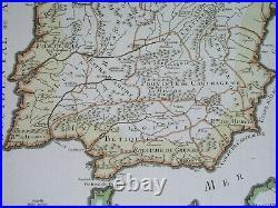 1742 rare ORIGINAL MAP SPAIN PORTUGAL CATALONIA ARAGON VALENCIA BARCELONA GOTS