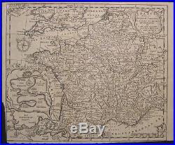 1747 Original T Jefferys Map France Germany Netherlands