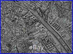 1748 LE ROUGE Atlas map PARIS FRANCE Plan de Paris