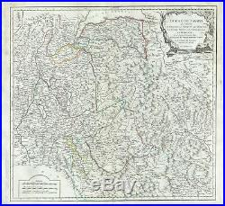 1752 Vaugondy Map of the Duchy of Savoy, France
