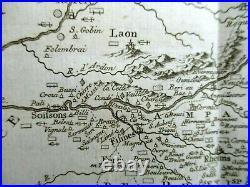 1753 Carte Mineralogique de la Champagne France 27x27cm. Guettard Geology Map