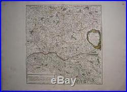1753 Original Vaugondy Map of Maine Anjou Perche France