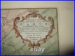 1756, L-paris, Plan/map, France, St. Germain, Jacques, Martin, Paul, Louvre, Seine, Maubert