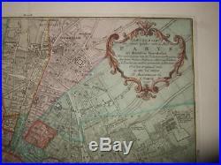 1756, Tirion Rare+fine Plan Of Paris, France, Frankreich, Louvre, Notre Dame, Chatelet