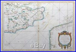 1759 CARTE DU COMTE DE KENT ET PAS DE CALAIS English Channel Sussex France LM10