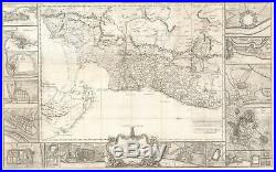 1770 Croisey Map of the South Indian Seat of War Between England and France
