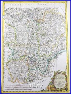 1771 Antique Map FRANCE Regions BOURGOGNE BURGUNDY LYONNAISE FRANCHE-COMTE