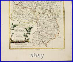1779-84 Antonio Zatta fine h/c map southern France Auvergne Nivernois Berri