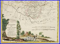 1779-84 Antonio Zatta fine h/c map southwest France Limousin Quercy Perigord