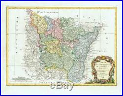 1783 CARTE DE LORRAINE ET D'ALSACE Map of France LORRAINE ALSACE Region (JM)