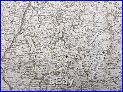 1787 Antique Map Vaugondy / Delamarche Map of the Duchy of Savoy, France