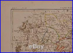 1790 Dated Rigobert Bonne Map Departments And Districts Of Isle De France
