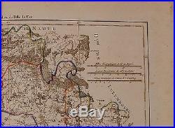 1790 Dated Rigobert Bonne Map France Departments Champagne Brie
