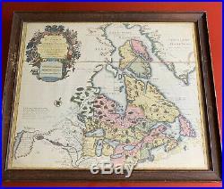 1800s Copy Of Canada de l'Isle 1730 Carte du Canada ou de la Nouvelle France