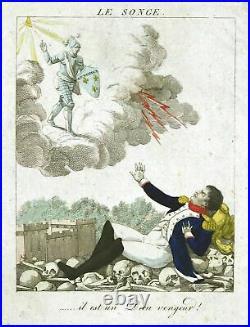 1814 Napoleon fall Bourbon Restoration France Frankreich caricature Karikatur